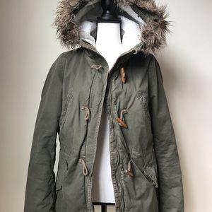 Olive green H&M coat